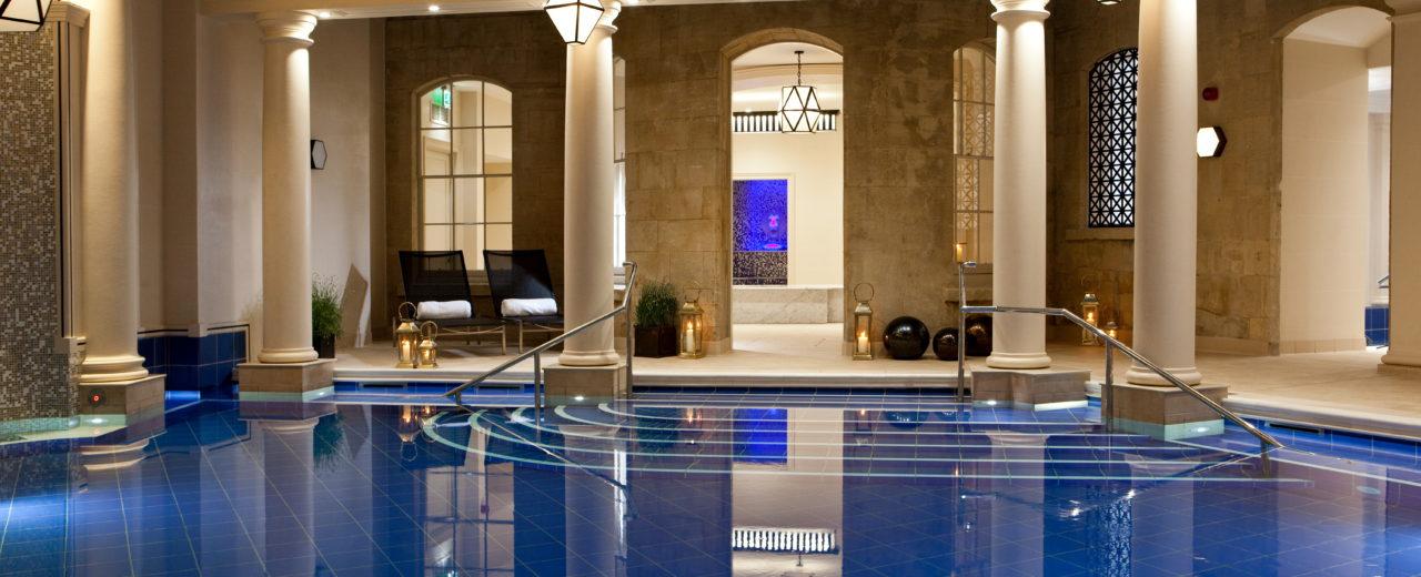 Spa Village Bath by night